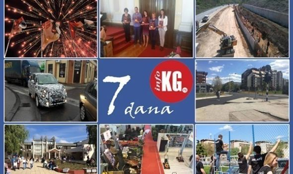 "InfoKG 7 dana: Ko nam peva za Đurđevdan, nagrada ""Šešir profesora Koste Vujića"", radovi na autoputu Kragujevac-Batočina, novi fića stiže krajem maja, na fakultetima 3.730 slobodnih mesta…"