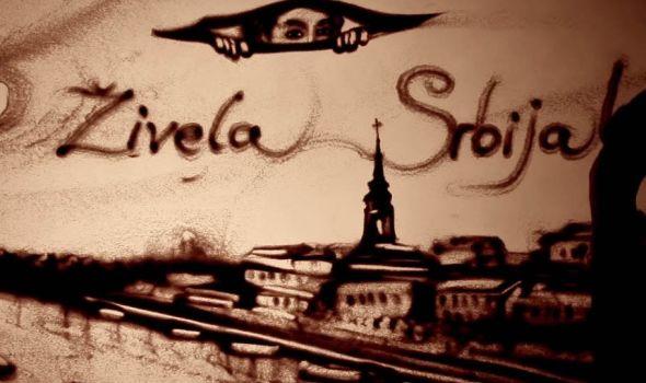Peščana priča: Kako ruska umetnica Simonova vidi Srbiju i slika je u pesku