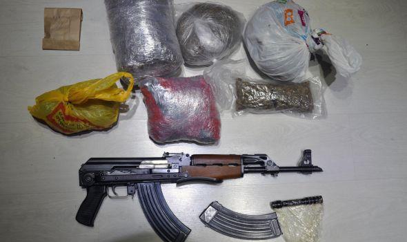 Uhapšen diler sa četiri kilograma marihuane i automatskom puškom (FOTO)