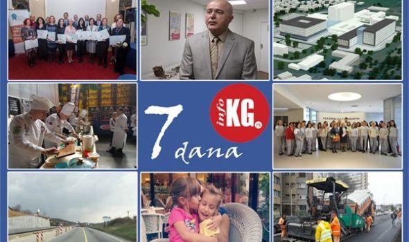 InfoKG 7 dana: Nastavnica Prve gimnazije najbolji edukator Srbije, Vasiljević ostaje na čelu Instituta, Pluton 2, novi Klinički centar, kragujevački kulinari nagrađeni u Rumuniji, Fiat-ova donacija pedijatriji, sanacija kišnog kolektora…