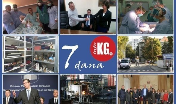 """InfoKG 7 dana: Dar Rotarakta, poštena radnica u policiji, kragujevački hirurzi prvi u Srbiji ugradili veštačko rebro, posao za 219 medicniskih radnika, """"Zastava oružju"""" i """"Medni"""" 12 miliona evra…"""