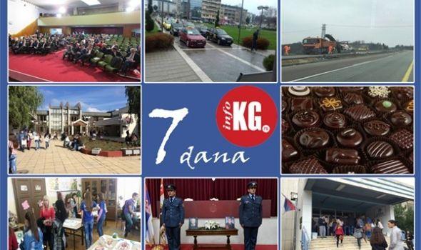 "InfoKG 7 dana: Kragujevački preletači, Univerzitet u 600 najboljih na svetu, Sajam čokolade, Festival nauke, Pravna klinika, komemoracija nastradalima u ""Medni""…"