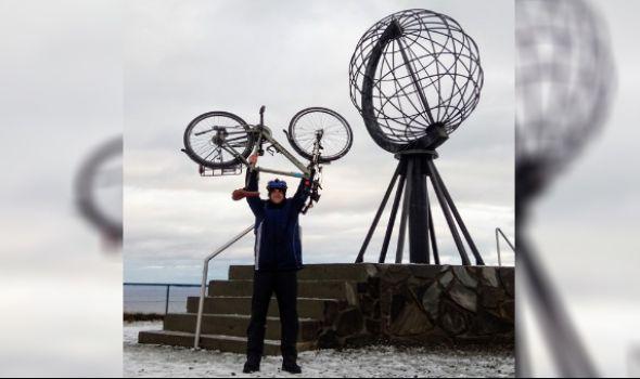Kragujevčanin Ljubiša Šljivić biciklom osvojio krajnji sever Evrope