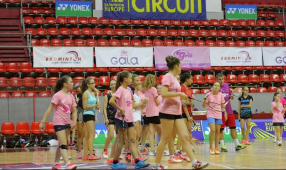 "Međunarodni badminton kamp ""Girls project"" u hali ""Jezero"""