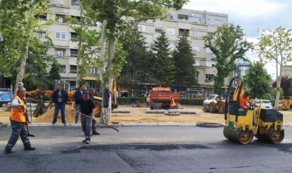 """Zatvoren deo saobraćajnice zbog rekonstrukcije parkirališta """"Trg svetog Đorđa"""""""