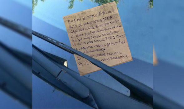 Hrvat ostavio Kragujevčaninu neočekivanu poruku na automobilu u Splitu (FOTO)