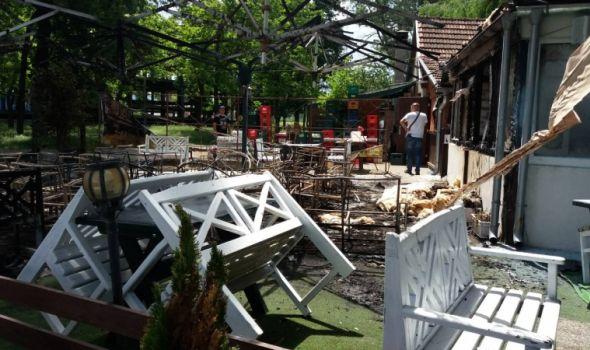 """Maskirani muškarac zapalio restoran """"Dvorište"""" (FOTO)"""