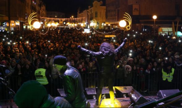 Kragujevčani uz Kerber dočekali Srpsku novu godinu (FOTO)