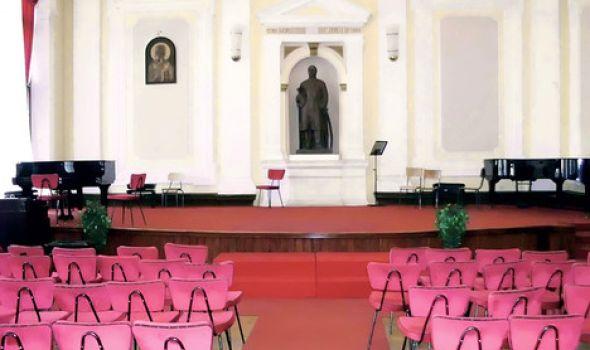 Koncert Mine Mijović i Aleksandra Stojića u svečanoj sali Prve kragujevačke gimnazije