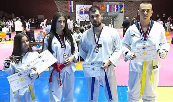 Tekvondo akademiji Kragujevac četiri medalje u Šapcu