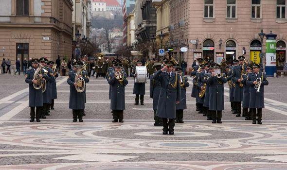 Vojni orkestar Oružanih snaga Slovačke Republike u Drugoj gimnaziji