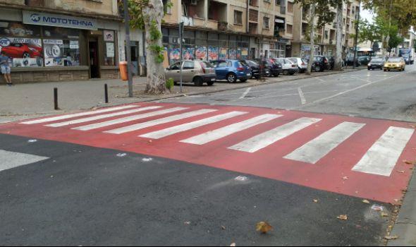 """Moderna crveno-bela zebra i kod OŠ """"Svetozar Marković"""""""