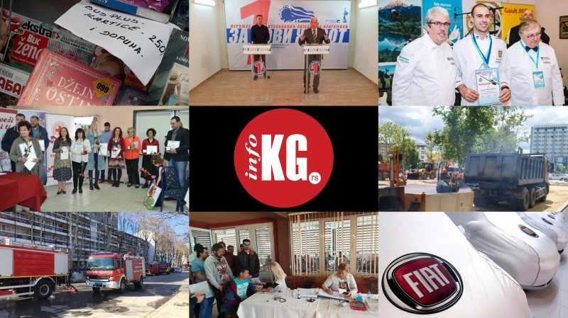 InfoKG 7 dana: ZZŠ, kulinari, aplikacija, parking, Fiat, Crveni krst...