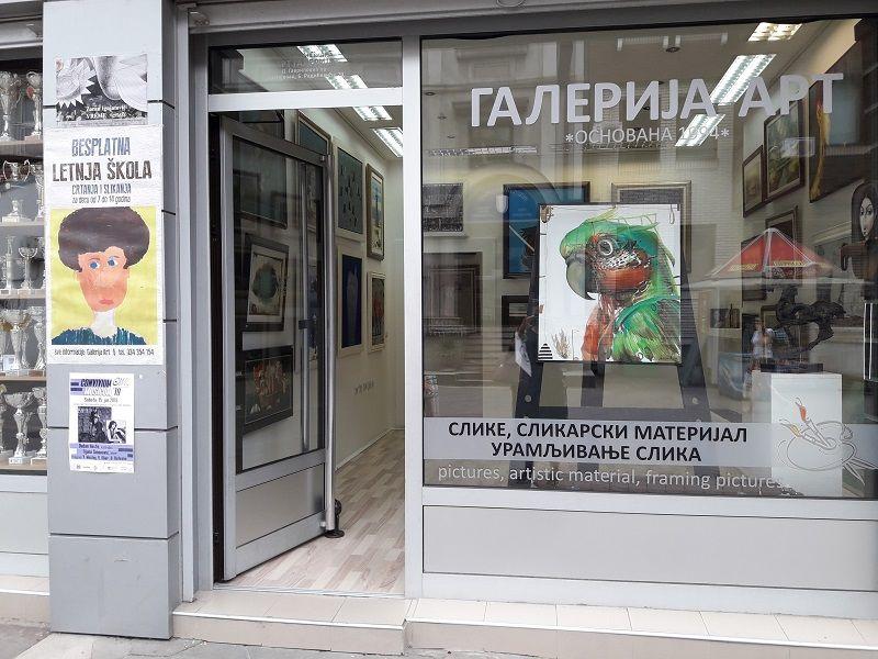 """I ove godine besplatna Letnja škola crtanja i slikanja za školarce u galeriji """"Art"""""""