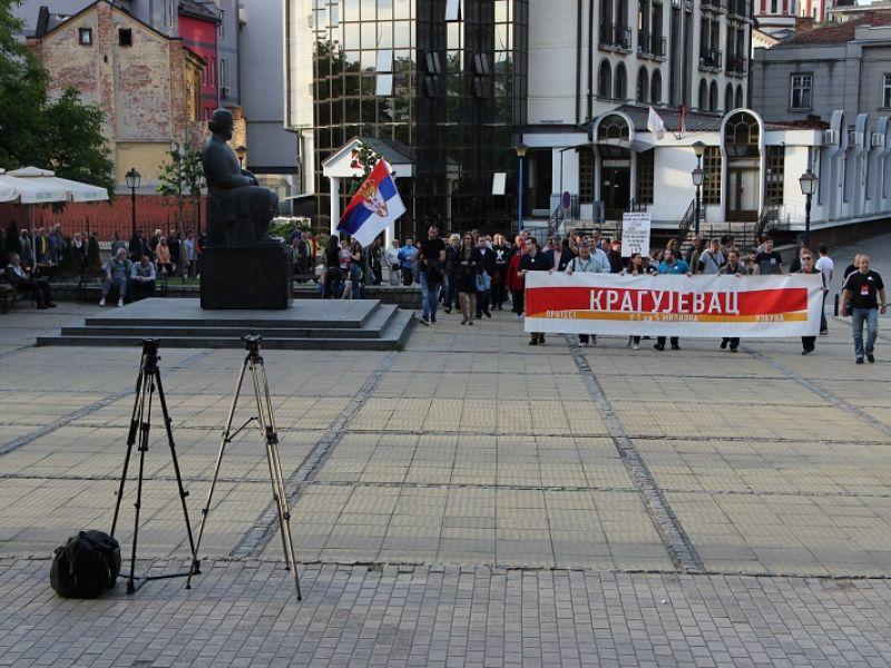 """""""Od 5 miliona"""" u Kragujevcu dvestotinak građana, obratili se Čedomir Antić i Borko Stefanović (FOTO)"""