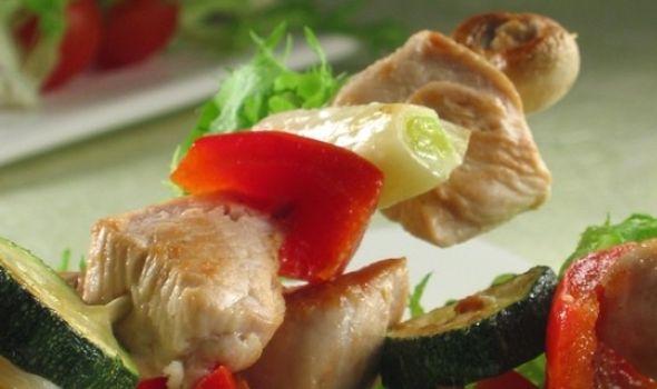 Predlog za ručak: Pileći ražnjići sa povrćem