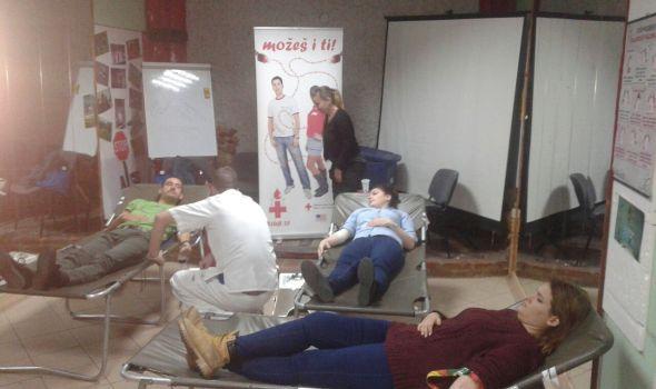 U Kancelariji za mlade prikupljeno 10 jedinica krvi (FOTO)