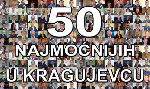 50 najmoćnijih u Kragujevcu u 2015.