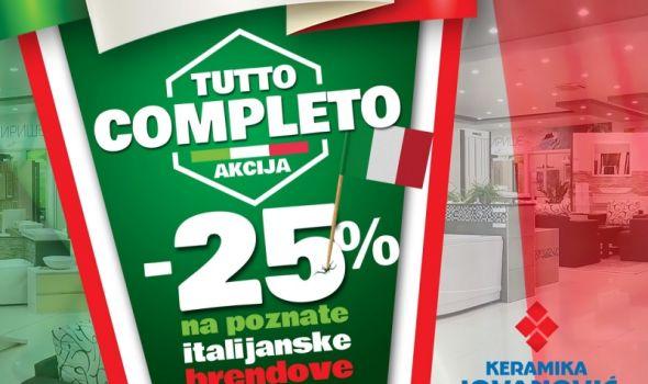 Dani Italije u salonima Keramike Jovanović: Iskoristite Tutto completo akciju! (FOTO)