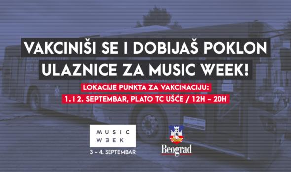 Siguran provod: Poklon ulaznice za Music Week uz vakcinu