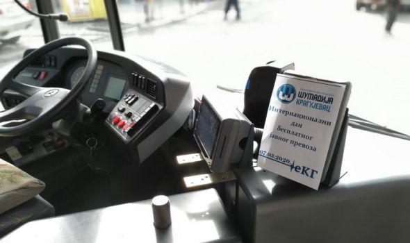 Za Kragujevčane besplatan javni gradski prevoz
