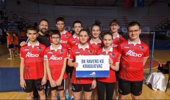 "Badminton klub ""Ravens KG"" osvojio osam medalja u Kruševcu"
