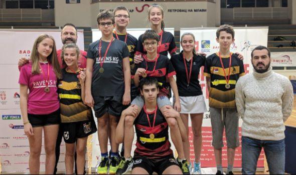 "Juniorima Badminton kluba ""Ravens KG"" DEVET medalja u Petrovcu na Mlavi (FOTO)"