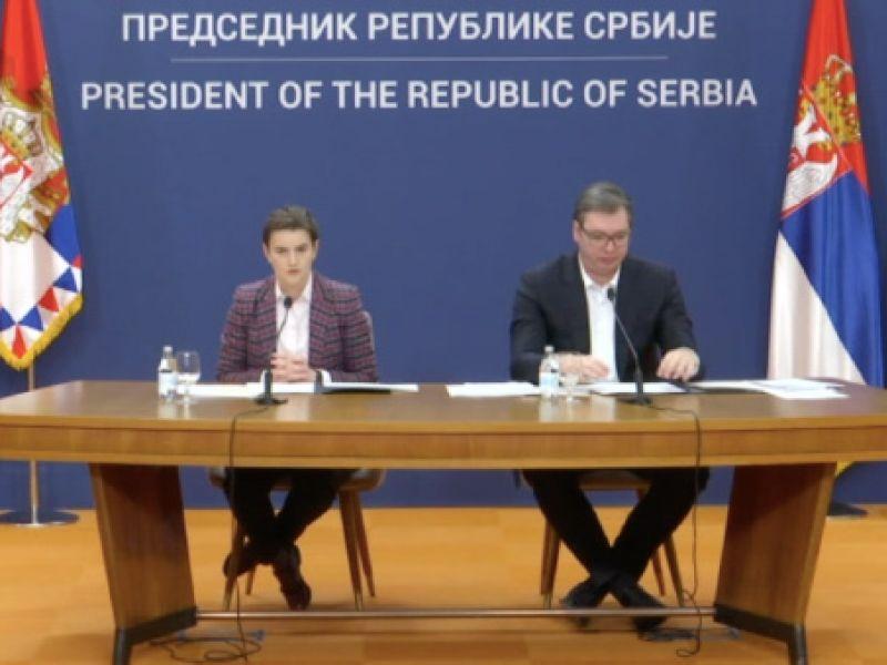 Vučić i Brnabićeva se obraćaju javnosti večeras u 18 časova