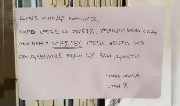 """Čika Mićina poruka mladima postala hit u Srbiji """"Vidite, klinci, kolo sreće se okreće"""""""