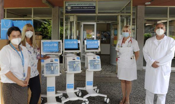 UNICEF donirao tri neonatološka respiratora Kliničkom centru Kragujevac (FOTO)