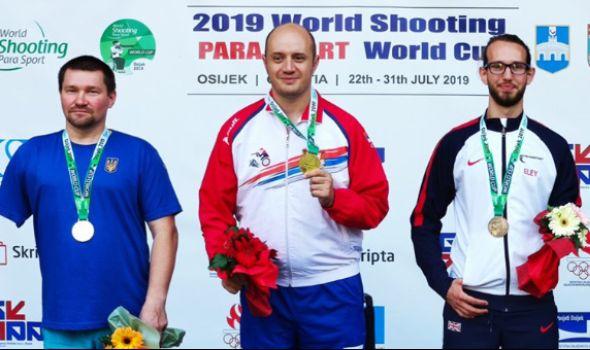 Ristić osvojio tri zlata na Svetskom kupu u parastreljaštvu u Osijeku
