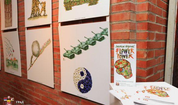 """Otvorena izložba """"Flower Power"""": Cveće autorov odbrambeni mehanizam kojim pokušava da popravi svet"""