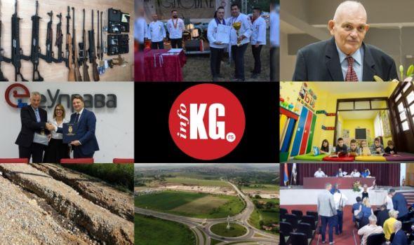 InfoKG 7 dana: 100 naj..., oružje, Ristović, Gutman, IBM, ReLOaD, Ibis 4Kids, Viška ulica, Yanfeng, SG, Autobuska stanica...