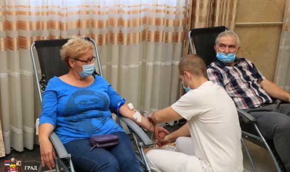 Akcija dobrovoljnog davalaštva krvi zaposlenih u Gradskoj upravi (FOTO)