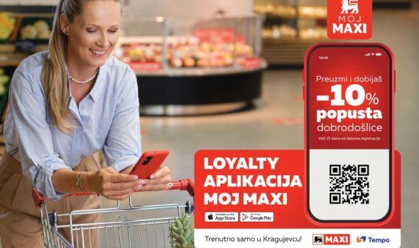 """Popust pri kupovini namirnica uz """"Moj Maxi"""" aplikaciju"""