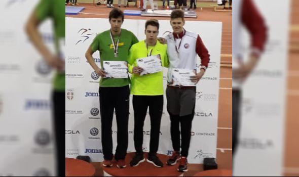 Mladenoviću srebro na Dvoranskom prvenstvu Srbije