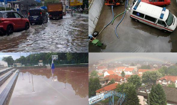 Nevreme poplavilo brojne objekte i ulice, u toku sanacija štete (FOTO/VIDEO)