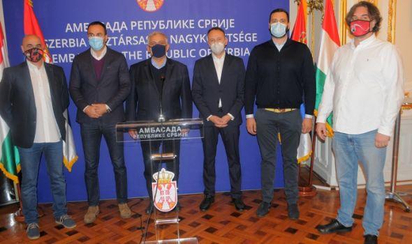 Šumadinci na prijemu u ambasadi Srbije u Budimpešti