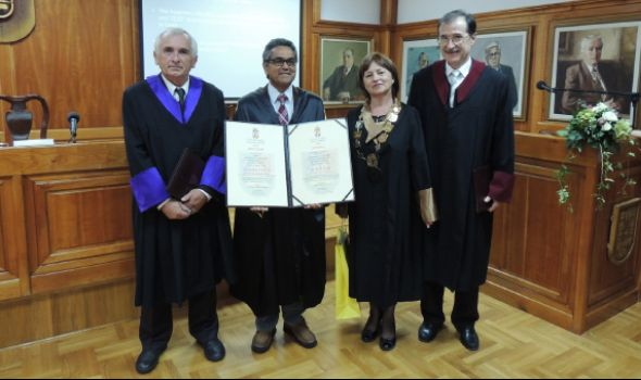 Profesor Tijagi počasni doktor kragujevačkog Univerziteta