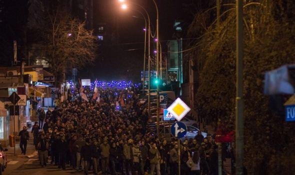 """""""Ne šetamo, već marširamo za slobodu"""": Protest """"1 od 5 miliona"""" peti put u Kragujevcu"""