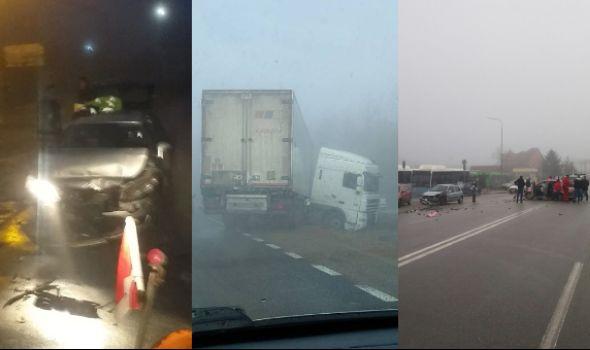 U Kragujevcu od jutros DESETAK saobraćajki zbog MAGLE I LEDA (FOTO)