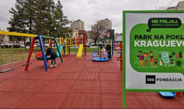 SBB fondacija donirala igralište Kragujevcu (FOTO)