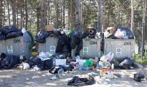 Kontejneri u Šumaricama krcati: Smeće se rasipa po putu, širi se nesnosan smrad