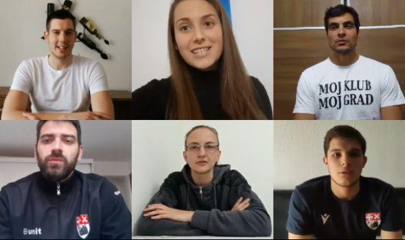Sportisti Radničkog čestitali Dan grada (VIDEO)