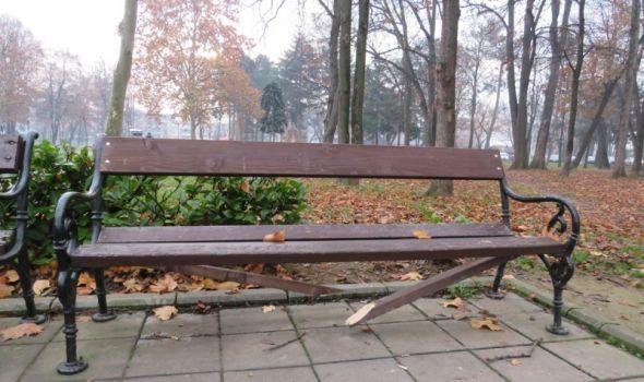 U Velikom parku izlomljene klupe, pokradene nove sadnice (FOTO)
