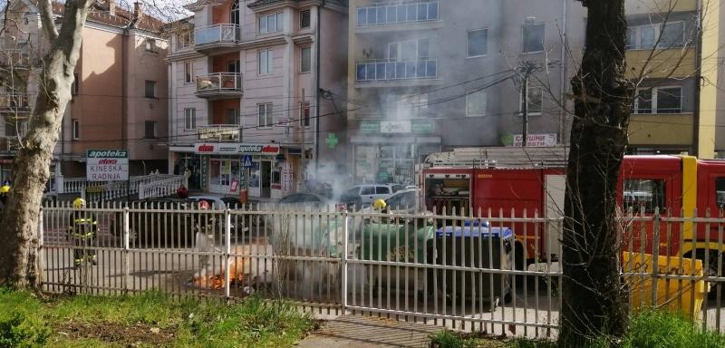 """Izgoreo kontejner u Zmaj Jovinoj – JKP """"Šumadija"""" apeluje: Ne bacajte žar u kontejnere!"""